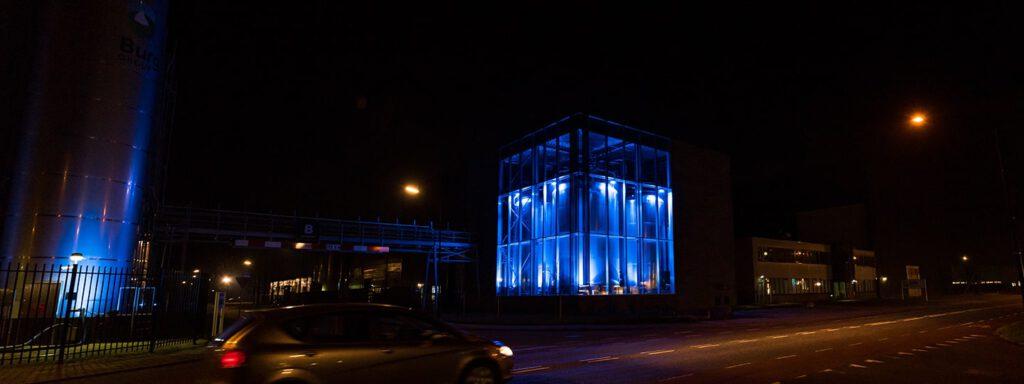 Burg Group Luci RGB Buitenzijde zichtbaar blauw