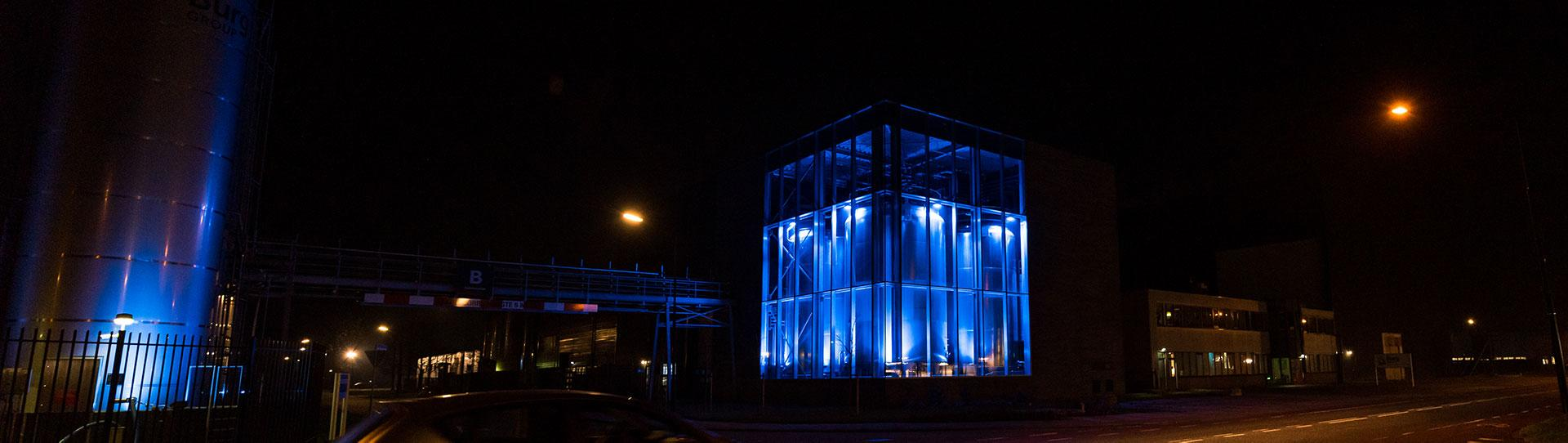 Burg Azijn outdoor blue lighting