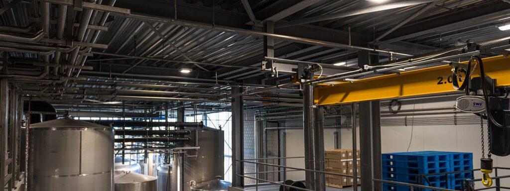Foto hoogte in fabriek met Luci verlichting Burg Group Heerhugowaard 4